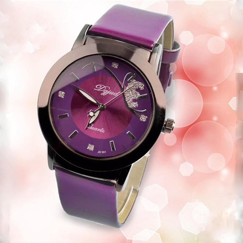 Fashion With Leather Wrist Watches Quartz Luxury Bands Colored MzUpqSV