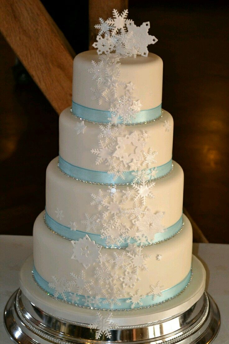 This a Christmas wedding cake.