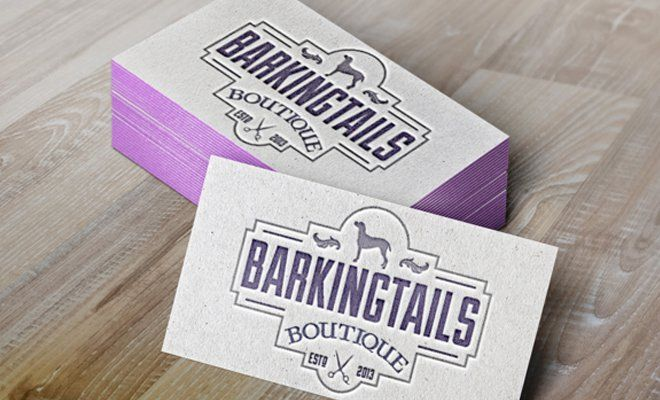 Barking tails boutique business cards print work branding this gallery includes menus brochures business cards sales coupons and other types of print design for company brands reheart Choice Image