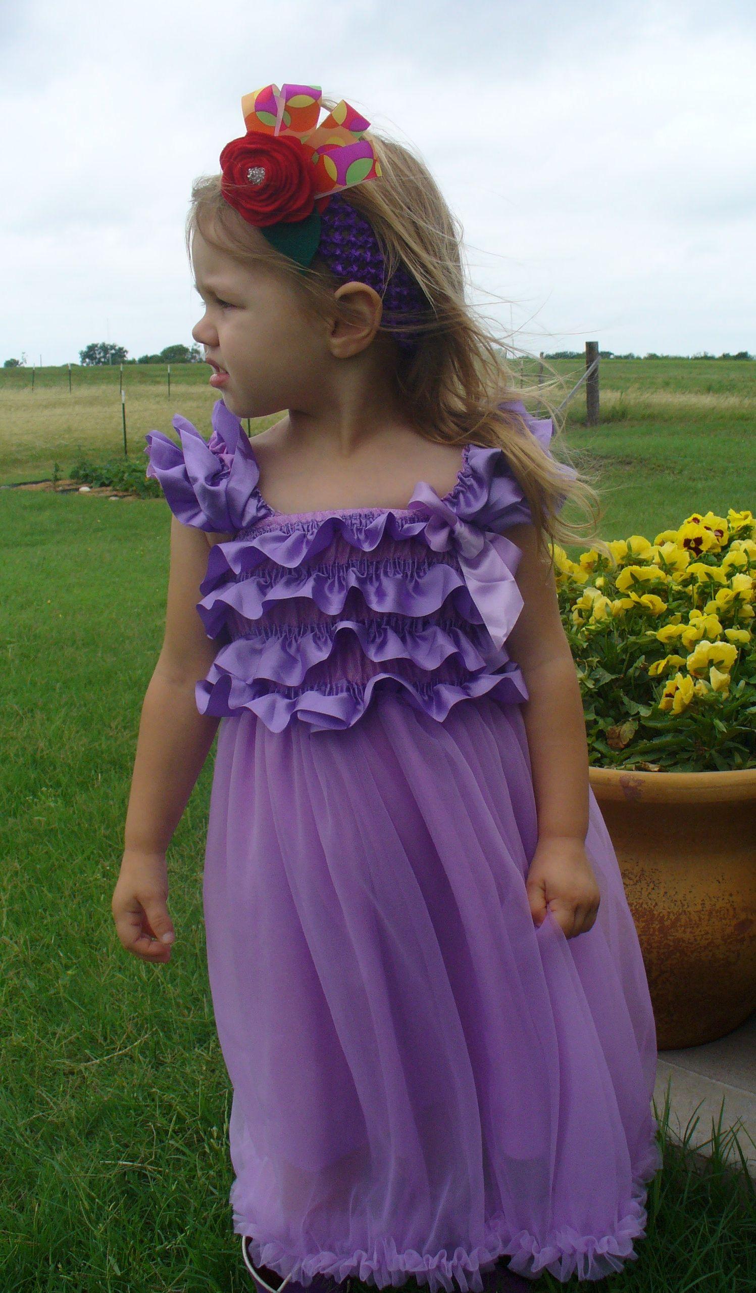 Hot Pink and Dark Purple Chiffon Dresses, Sizes 1yr, 3yr-5yr $20 plus $3 shipping