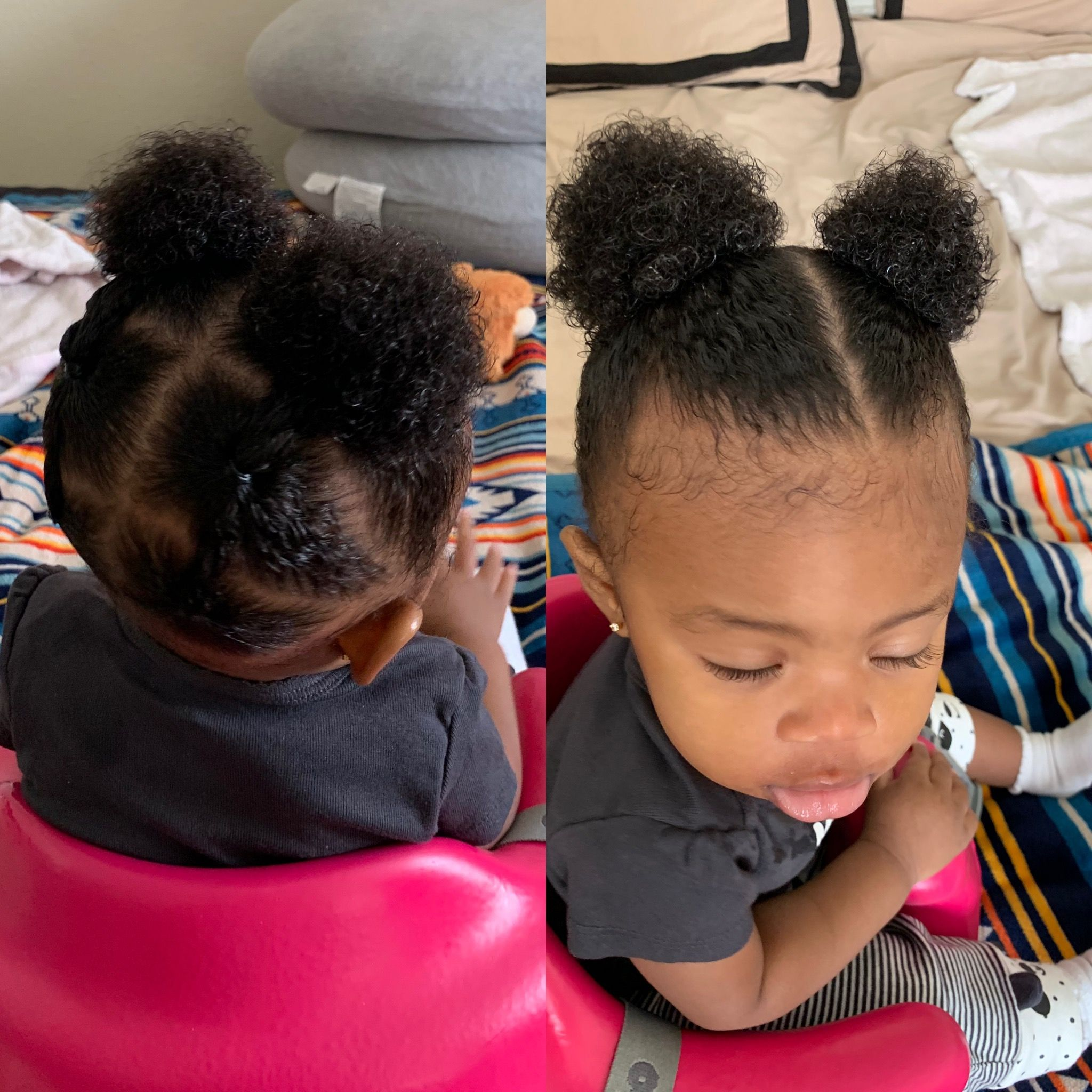 Connected 2 Ponytails Baby Girl Hairstyles Baby Hairstyles Black Baby Hairstyles