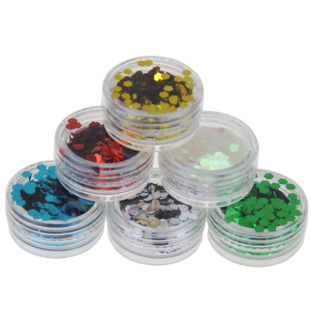 3D Acryl Nagel Kit Tools 6 Flaschen Nagel Glitter Pulver Staub ...