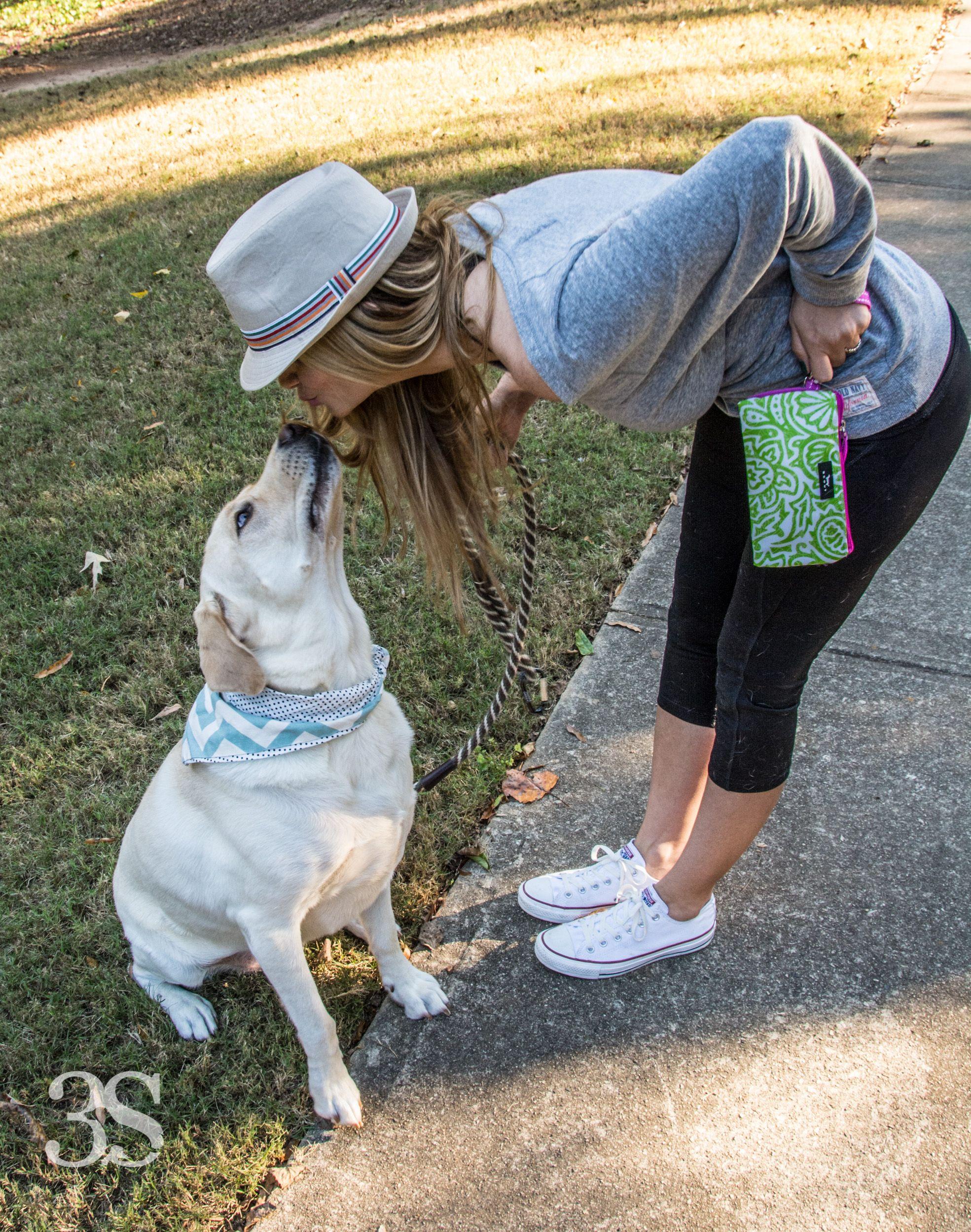 Yes I kiss my dog and no I don't think it's gross! Behind