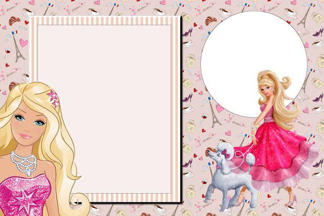 Barbie Moda e Magia - Kit Completo com molduras para convites, rótulos para guloseimas, lembrancinhas e imagens!