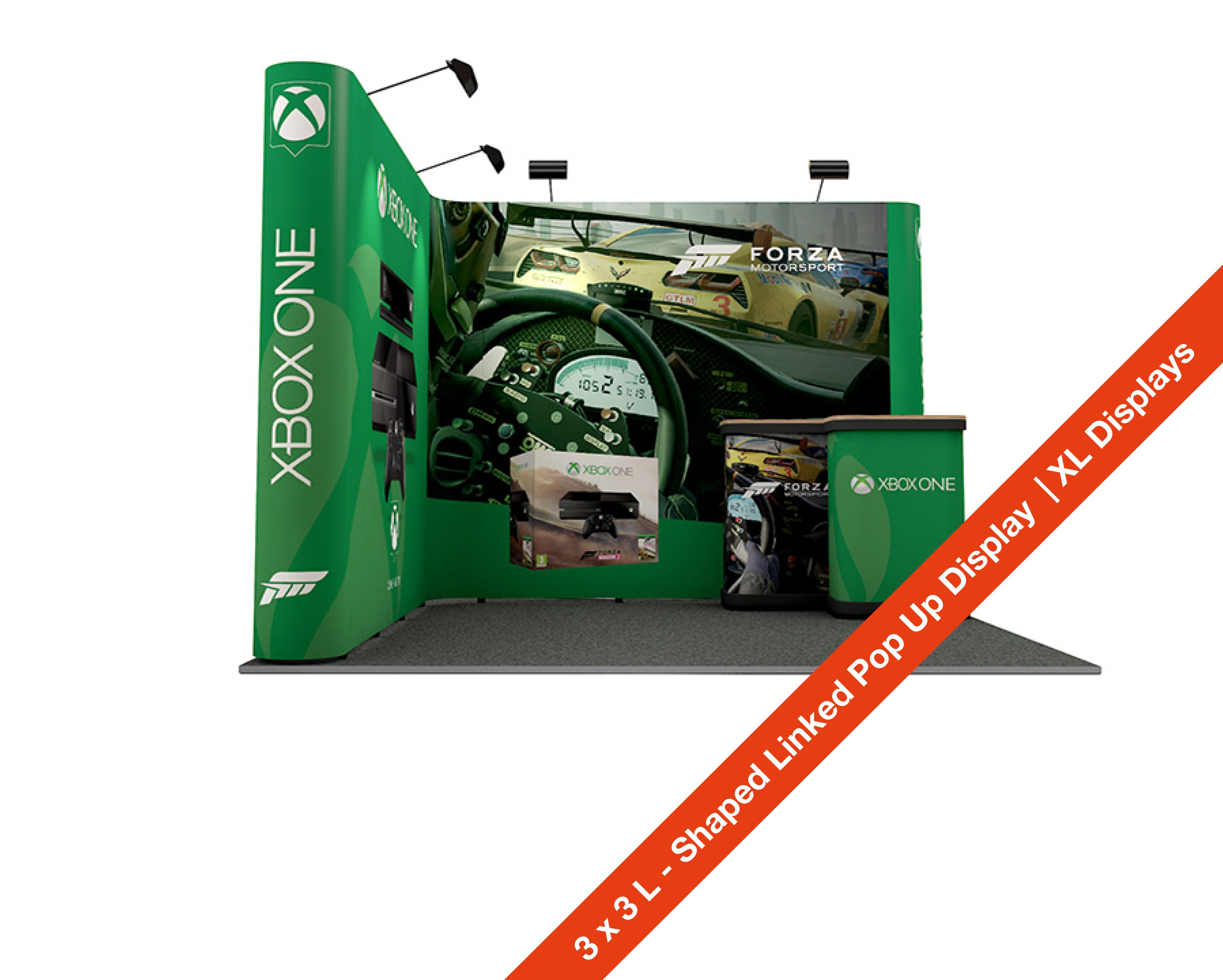 Expo Exhibition Stands Xbox One : M m exhibition stand l shape linked pop up stands linked pop