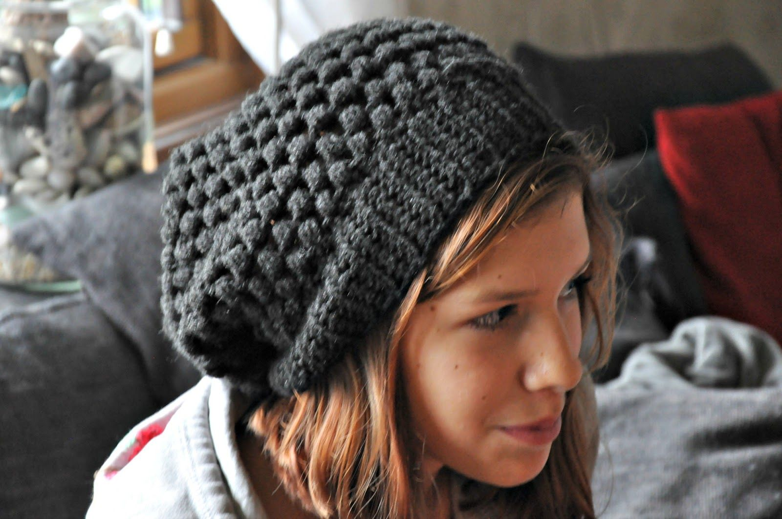 moogly crochetslouchy beanie for men | The hat pattern uses a stitch ...