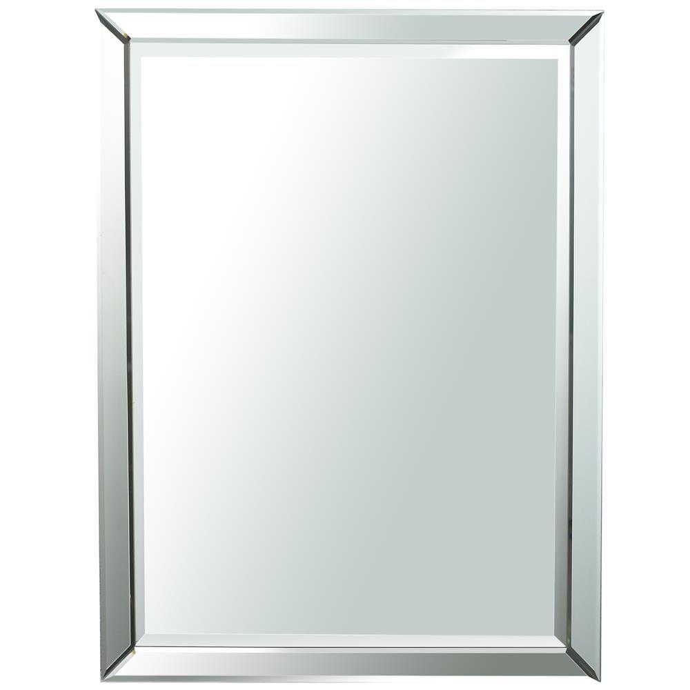 Frameless Mirror Frameless Mirror Mirror Bathroom Lights Above