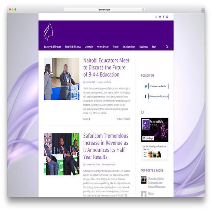 femmehub-health-site-example-with-the7-theme | Portfolio Wordpress ...