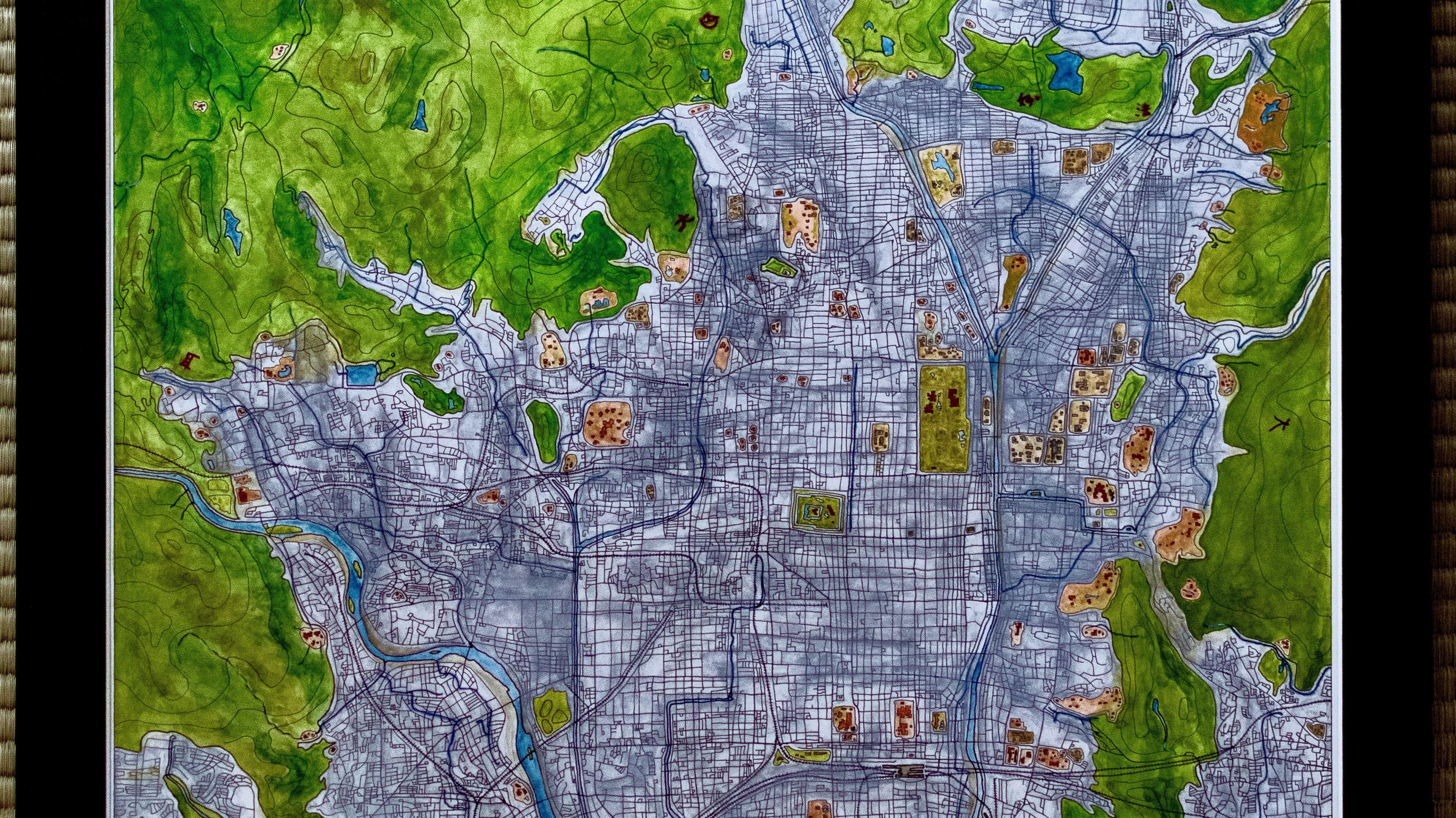 #kyoto #cartography #streetmap #japanmap #mapofjapan #inkandwatercolor #staedler #daimonji #japan #mapposter #kickstarter #goldenpavilion #cartographer #kyotocity #miyako #watercolormap #streetmap #handmademap #mapmaking #mapdesign #illustrativemap #karte #mapofkyoto #kyotomap #地図 #京都 #大文字 #水彩画 #金閣寺 #手作り #京都の地図 #みやこ