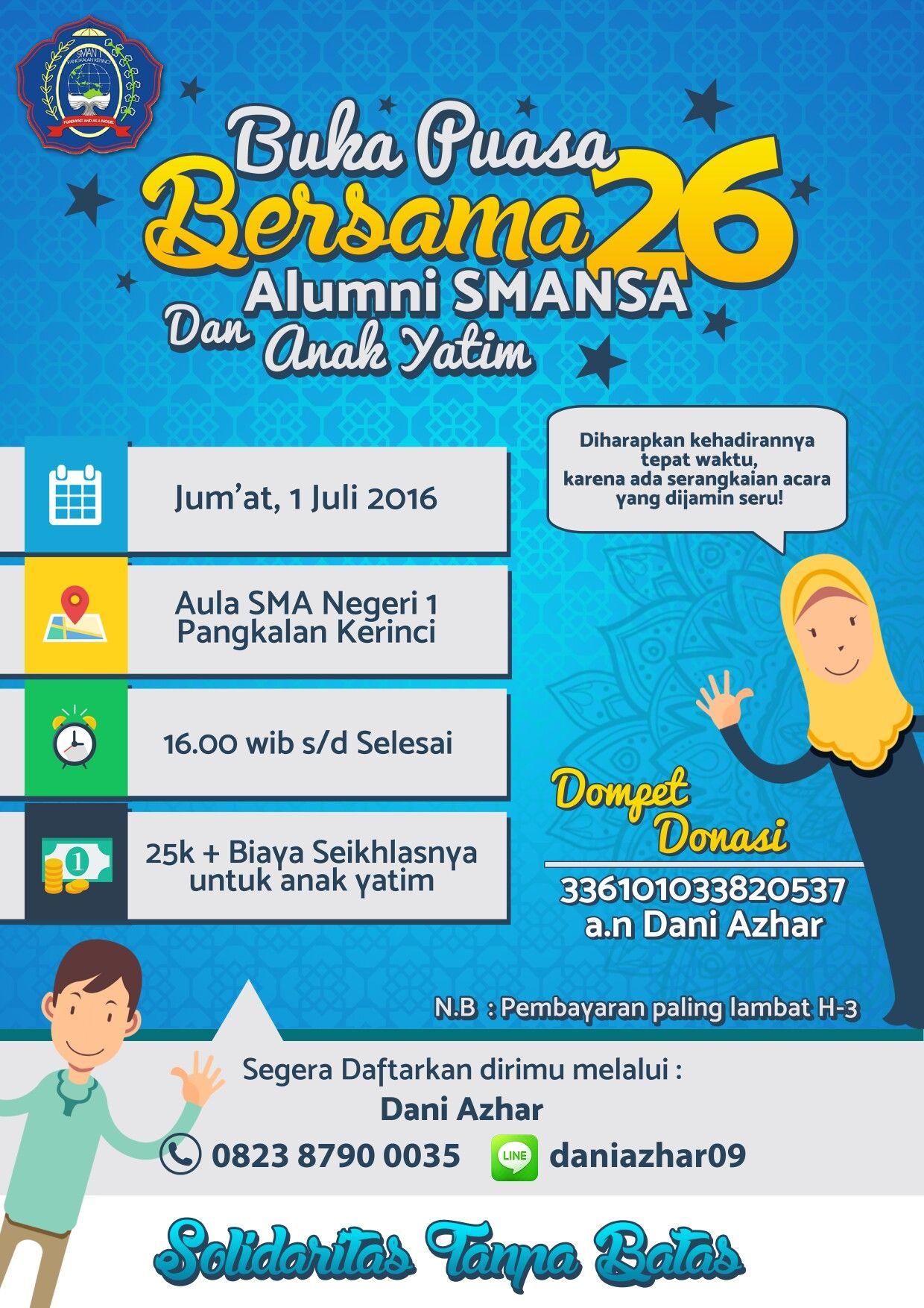 Design Flyer Buka Puasa Bersama With Photoshop Cc Desain Pamflet
