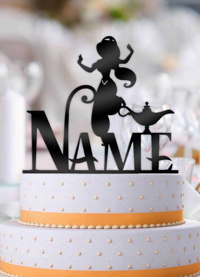 This Personalized Jasmine With Name Birthday Cake Topper Will Be The Perfect Addition To Your Our Toppers Turn An Ordinary Into Something That