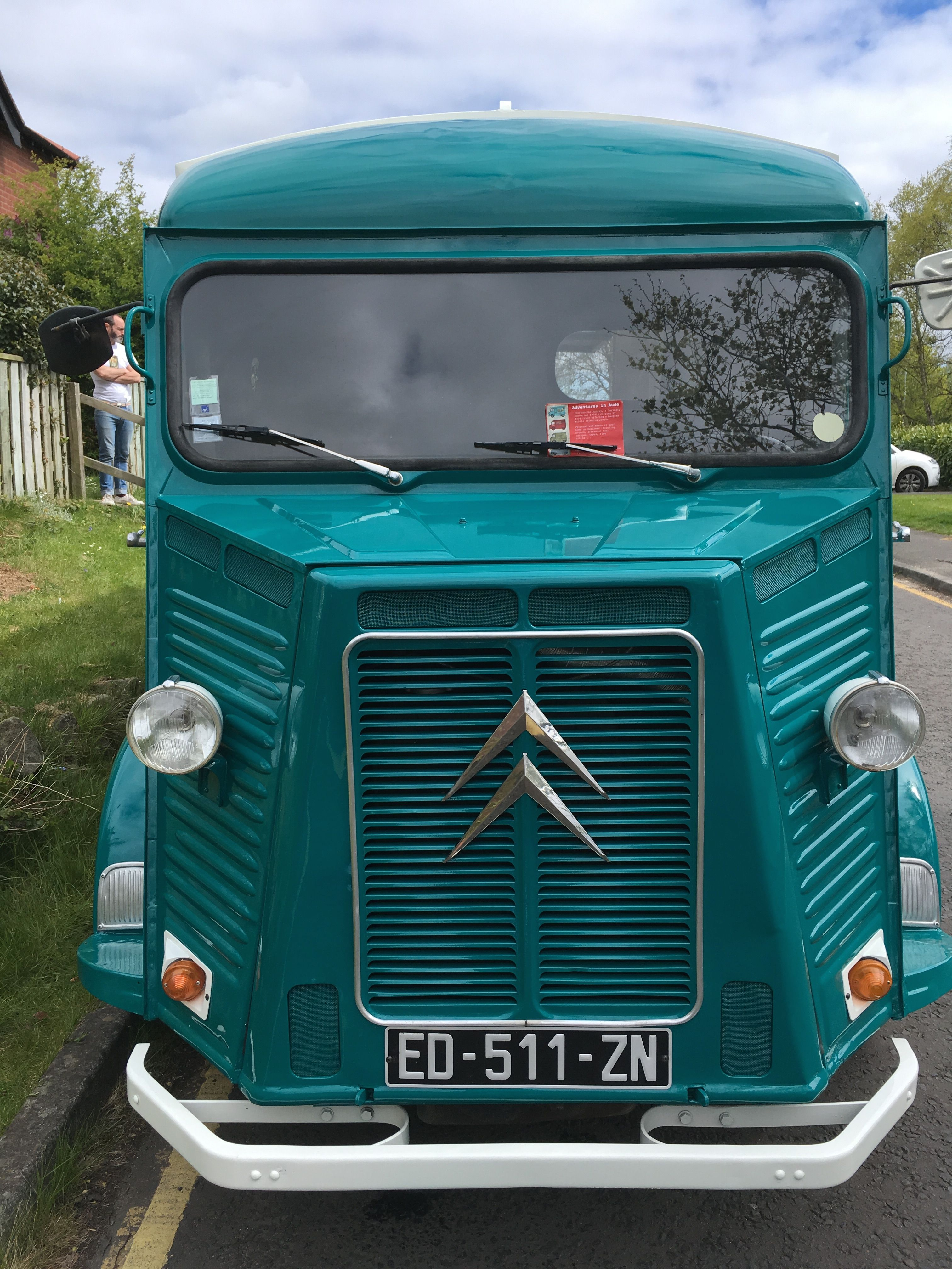 Citroen hy food truck available to hire across the north