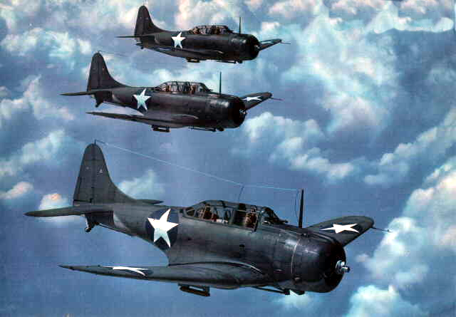 United States' Douglas SBD Dauntless dive bomber