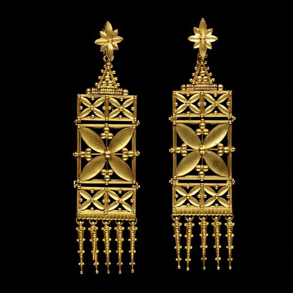 Earrings. Place of origin: London, England. Date:  ca. 1865-ca. 1870.   Artist/Maker: Carlo Giuliano, 1826 - 1895.
