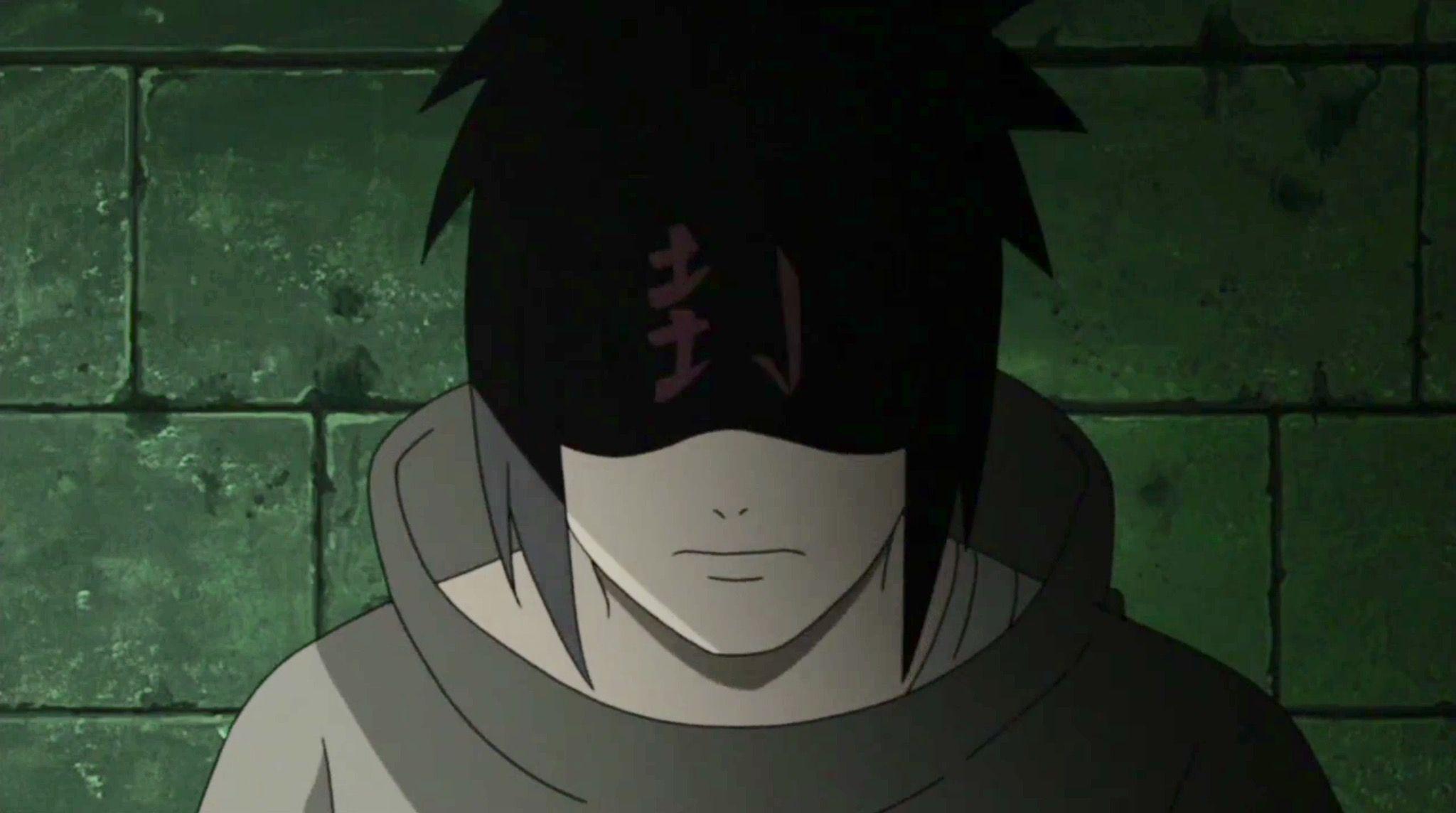 Sasuke with sealed eyes