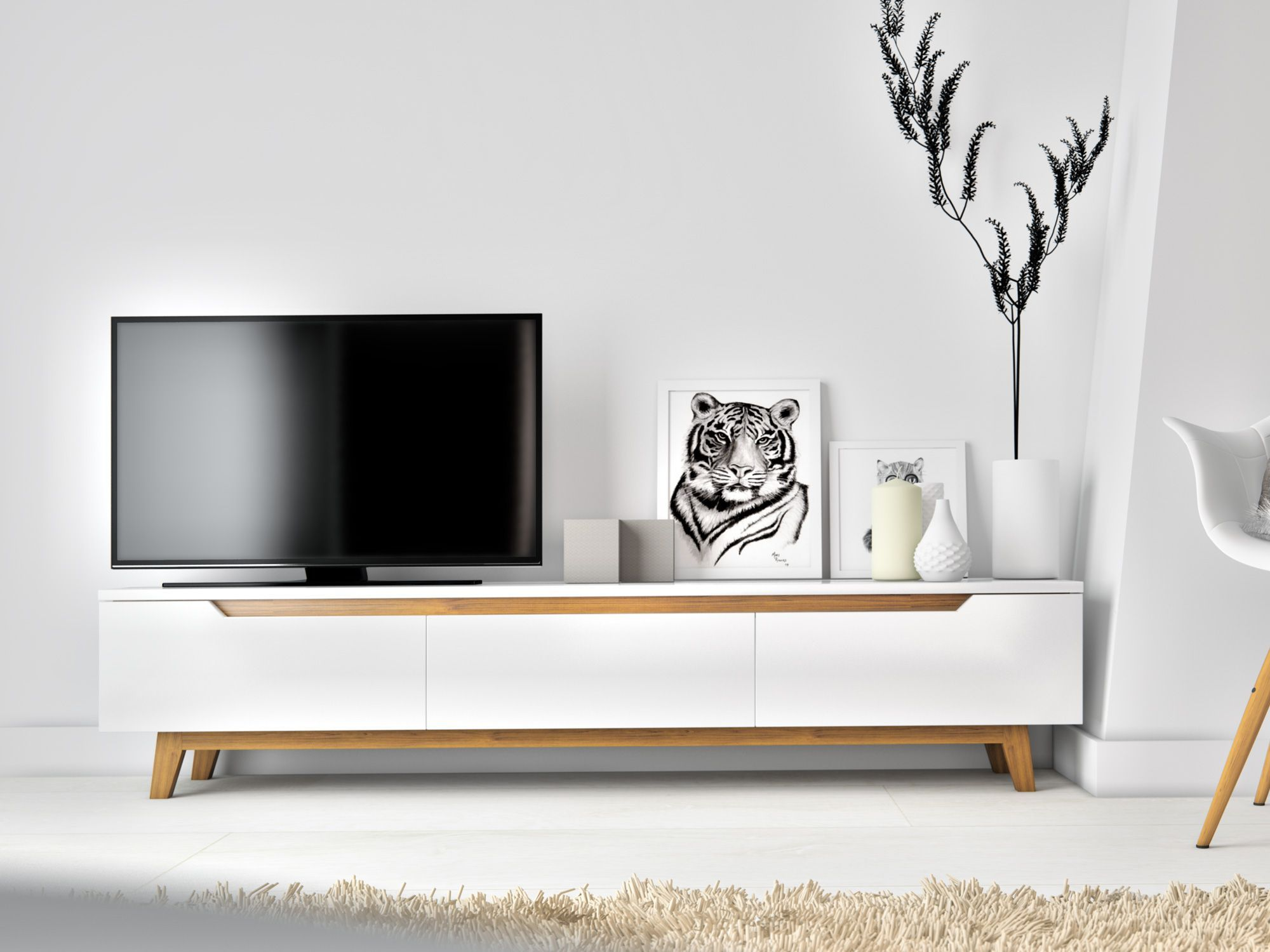 Mikkel Tv Stand Tv Stands Tvs And Living Rooms # Meuble Tv New York