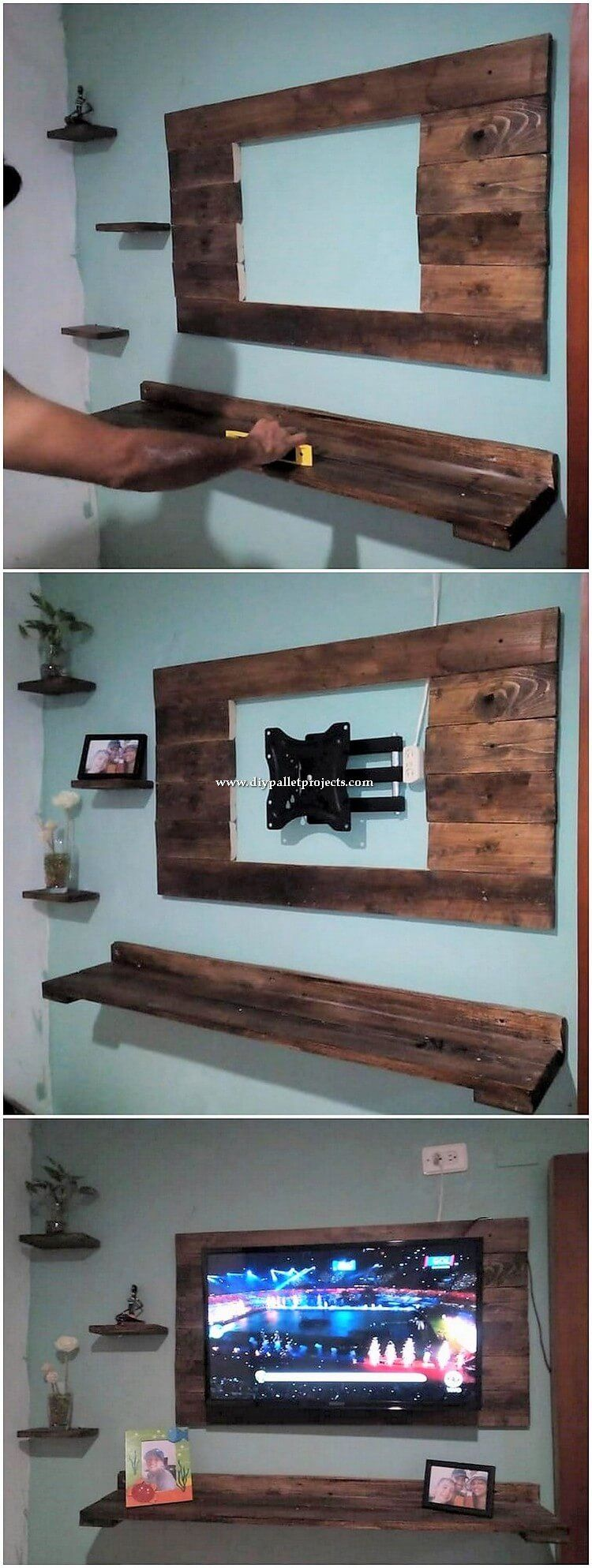 Such an elegant and elegant piece of wall LED designing is being carried out here for you! This wall LED is flawlessly added out with the pallet use where you can dramatic discover the involvement of compact sizing style is state-of-the-art set with the pallet use stacking that brings grace in the whole idea. #oldpalletsforcrafting