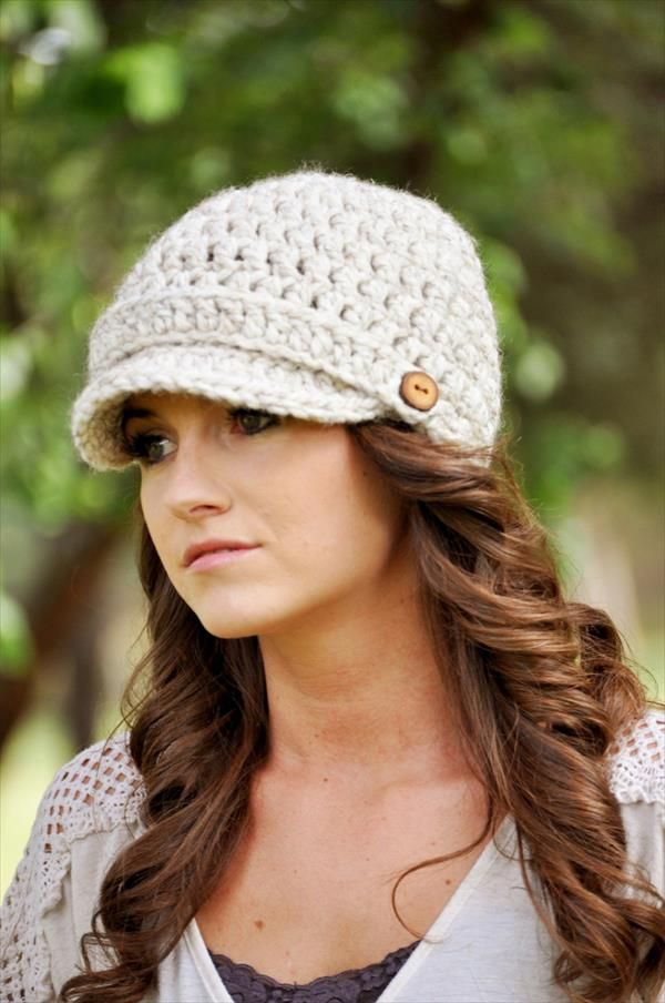 Crochet Women Newsboy Hat Pattern Pinterest Crochet Newsboy Hat
