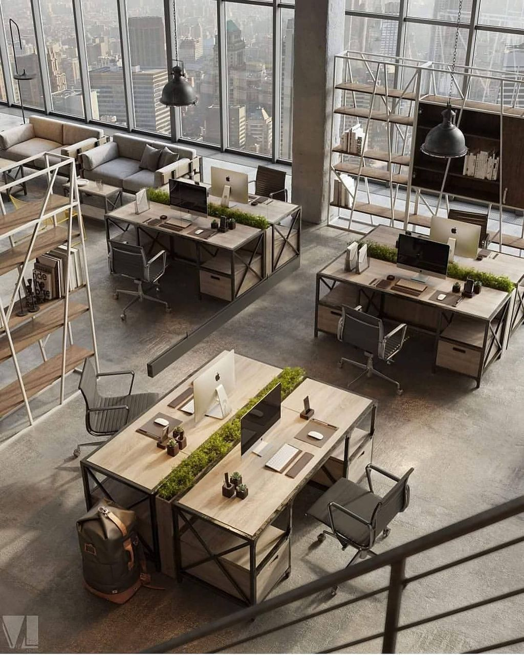 46 Modern Home Office Design Ideas Zyhomy Loft Style Furniture