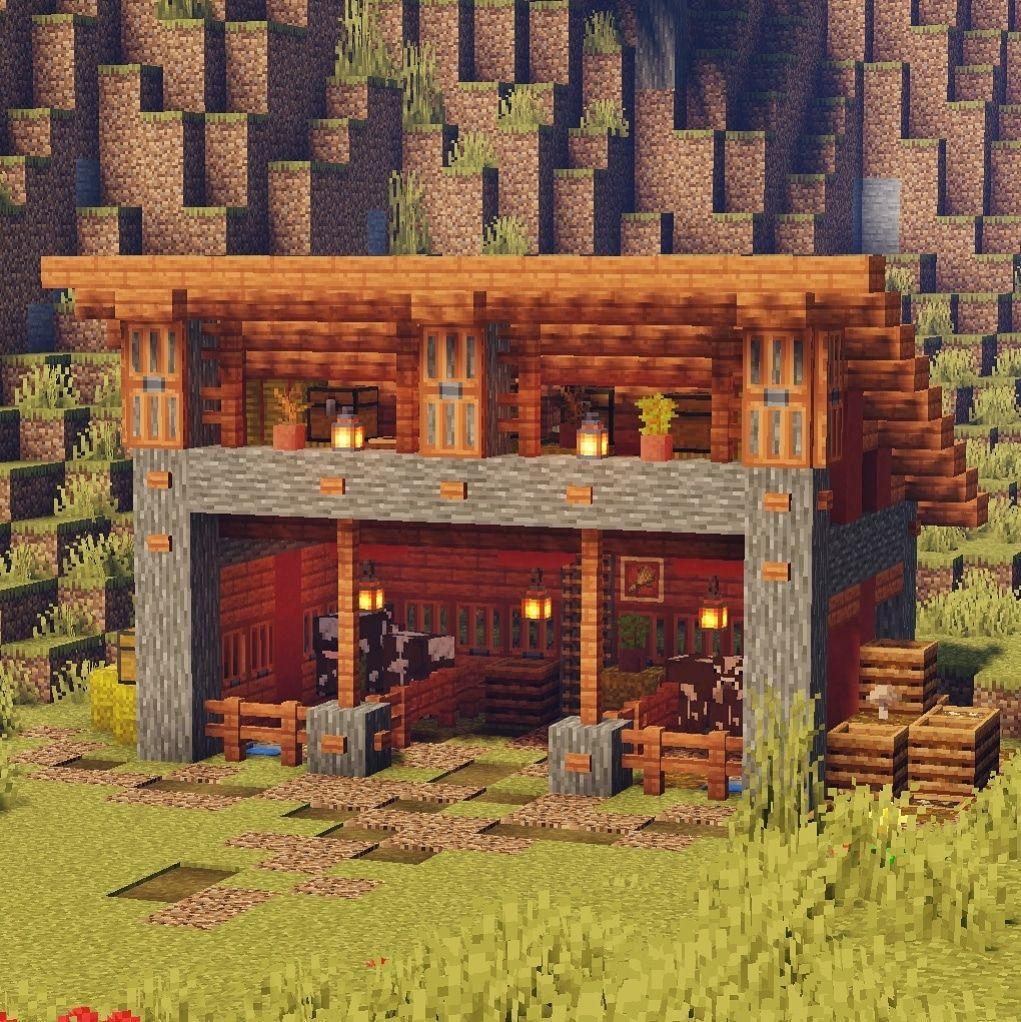 Spiderboy Minecraft Builder On Instagram Small Cow Farm Minecraft Minecraftdaily Miner M Cute Minecraft Houses Easy Minecraft Houses Minecraft Farm