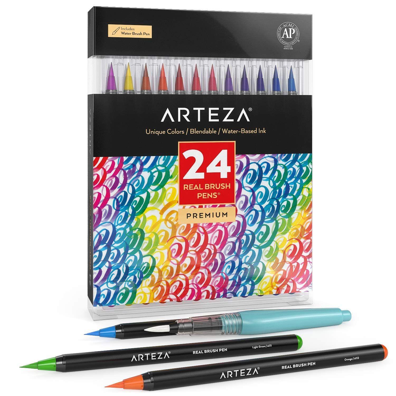 Real Brush Pens Set Of 12 Brush Pen Pen Sets Fineliner Pens