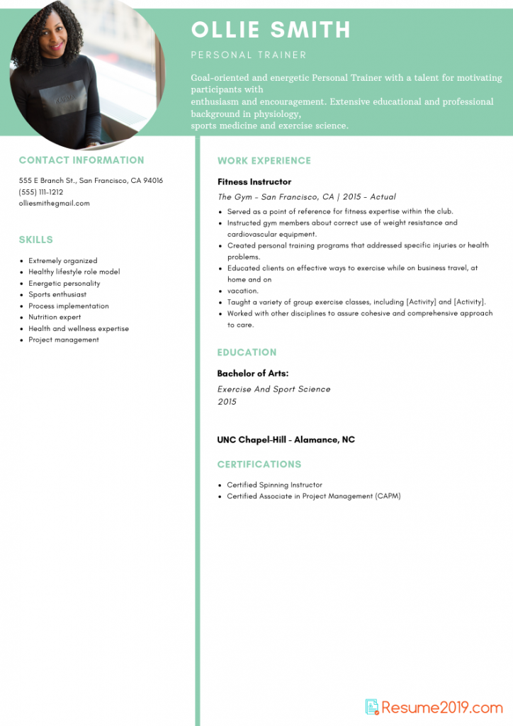 to get updated resume template for 2019 just click on this