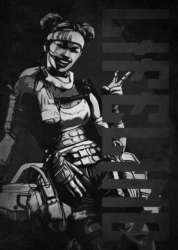 "Apex Legends Black & White Characters Lifeline #Displate explore Pinterest""> #Displate artwork by artist… | Displate thumbnail"