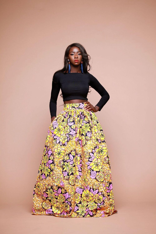 9c7e525fb African Print Beeku Maxi Skirt | African Queen | Fashion, African ...