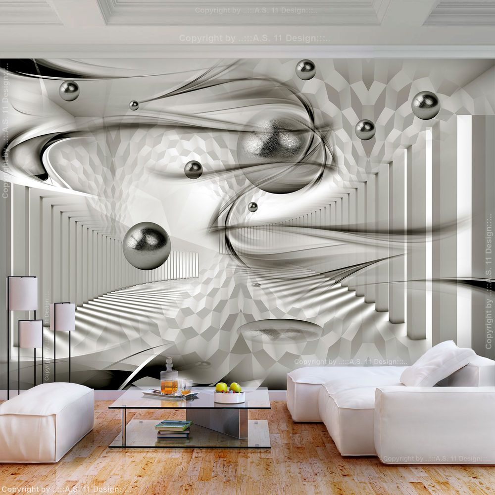 Vlies Fototapete Abstrakt Kugeln Grau 3d Effekt Tapete Wandbilder Xxl Wohnzimmer Ebay Tapeten Wandbilder Fototapete Tapeten