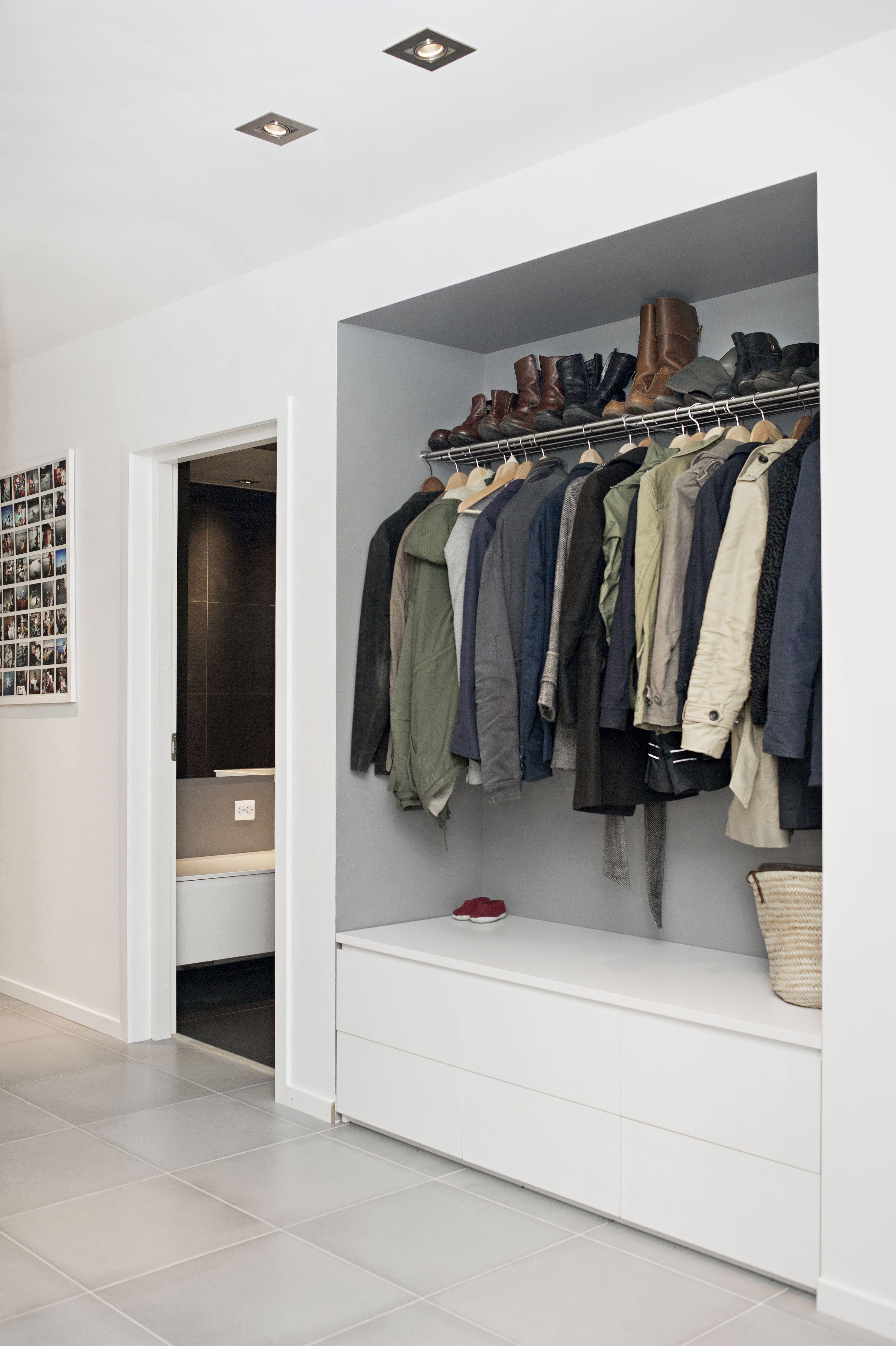 garderobe idee clever smart pinterest garderobe ideen garderoben und flure. Black Bedroom Furniture Sets. Home Design Ideas