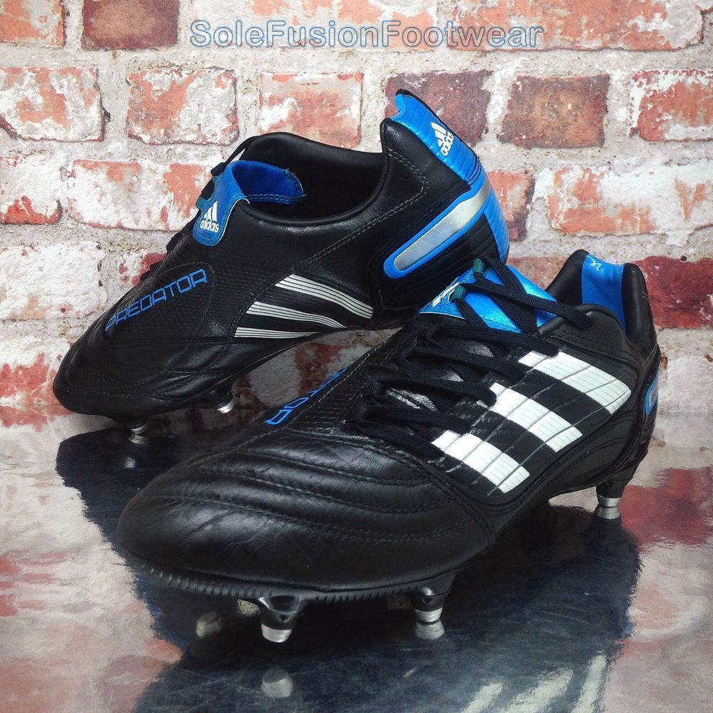 uk availability 37a09 4b7a2 adidas Predator Mens Absolado X Football Boots Black sz 8 SG Cleats US 8.5  EU 42   eBay