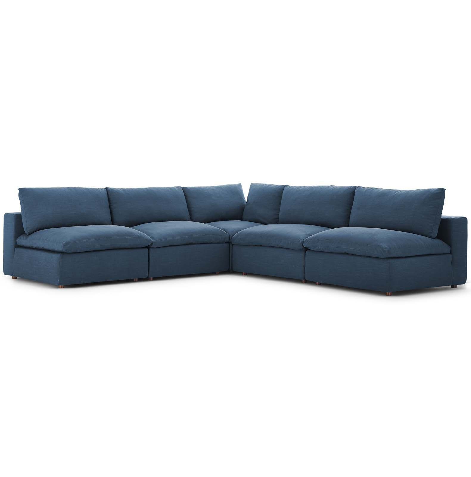Commix Down Filled Overstuffed 5 Piece Sectional Sofa Set Sectional Sofa Sofa Set Corner Sectional Sofa