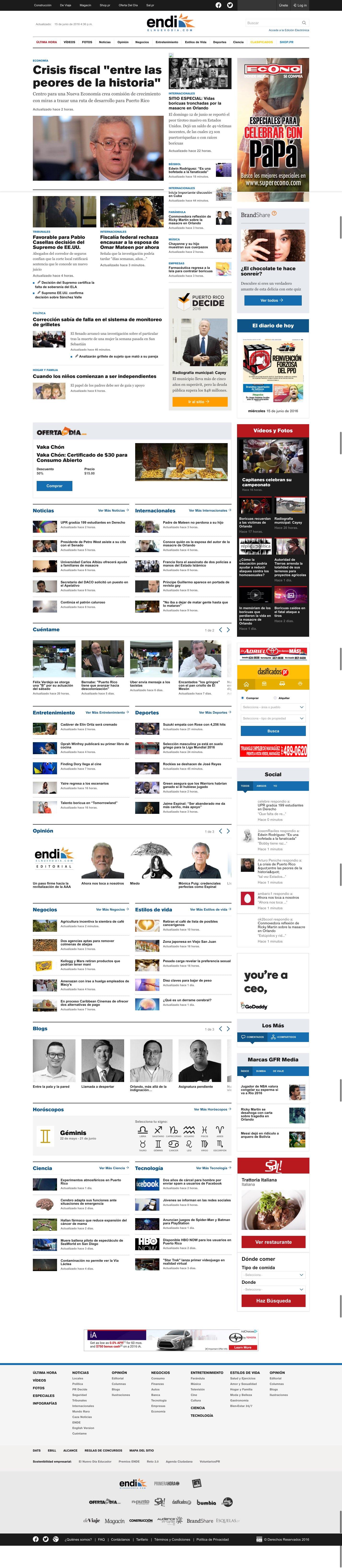 clean newspaper magazine ezine website layout