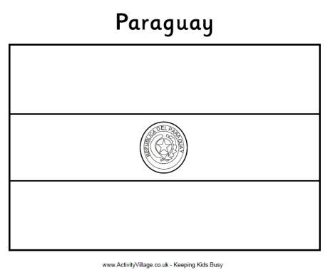 Flag of Paraguay | Modern History Coloring Book | Flag ...