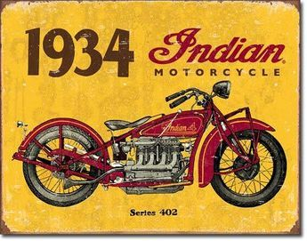 1934 Indian Motorcycles Sign