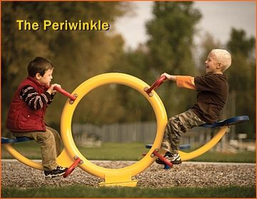 The Periwinkle See-saw spring Toy is so much fun for young children ages 2-5. It features: See-Saw like motion for one or two riders Design which encourages teamwork for two riders Easy to reach grip