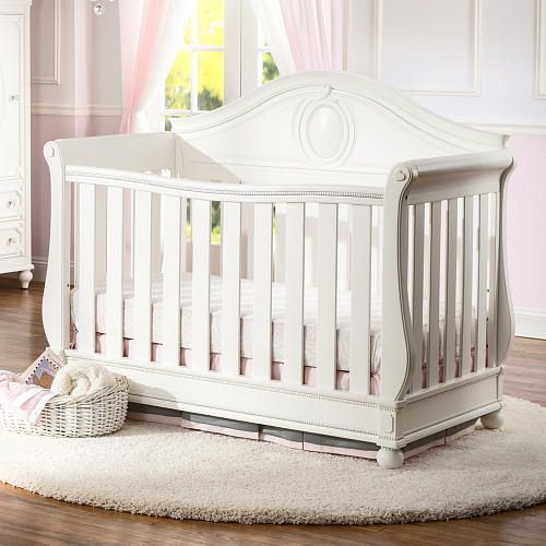 Disney Princess Magical Dreams 4 In 1 Convertible Crib By Delta Children White Ambiance Babies R Us Cribs Convertible Crib Convertible Crib White
