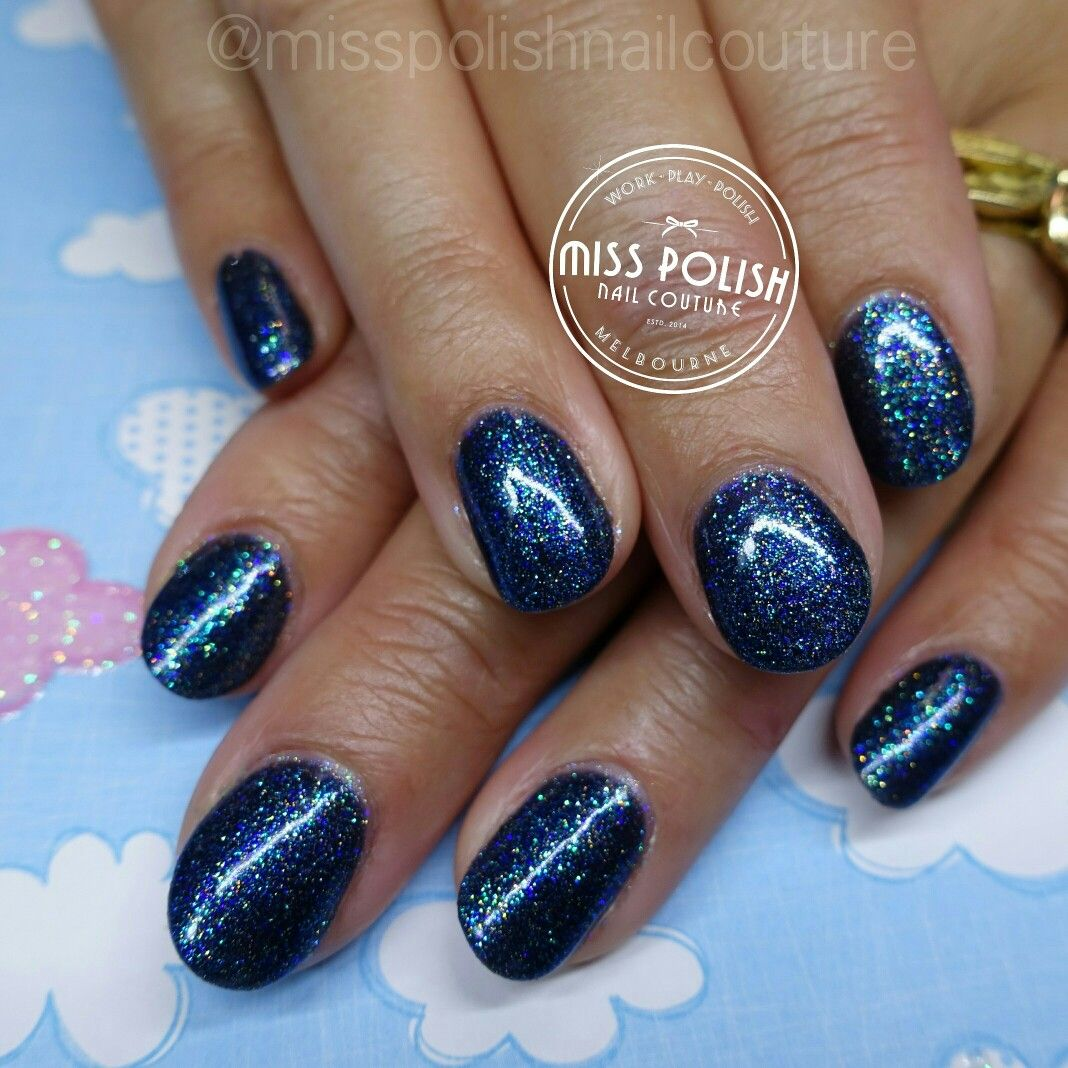Navy Blue Glitter Nail Polish | Best Nail Designs 2018
