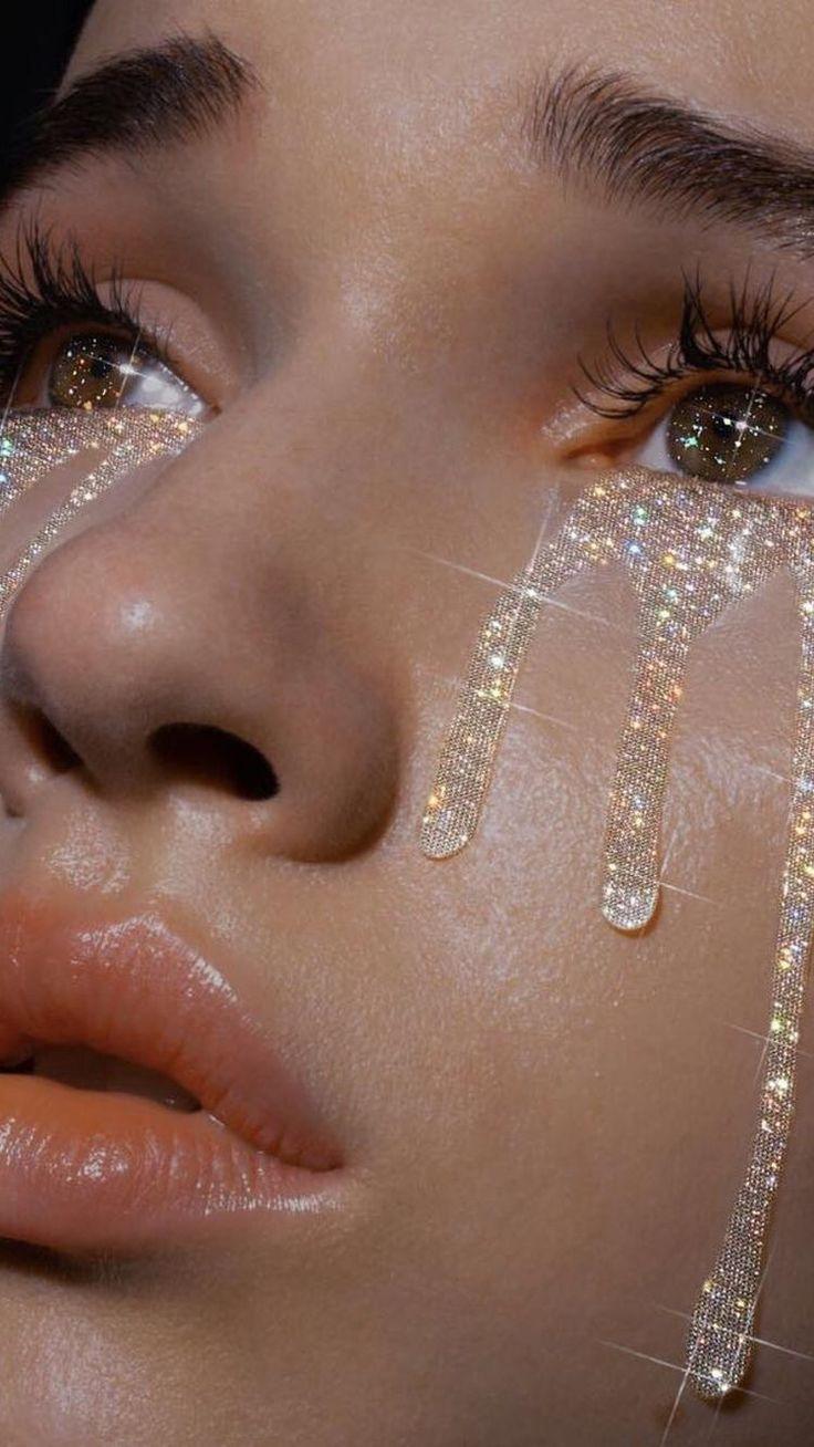 #tumblr #glitter #tears #aesthetic #smoothskin #clearskin #pretty #sparkles