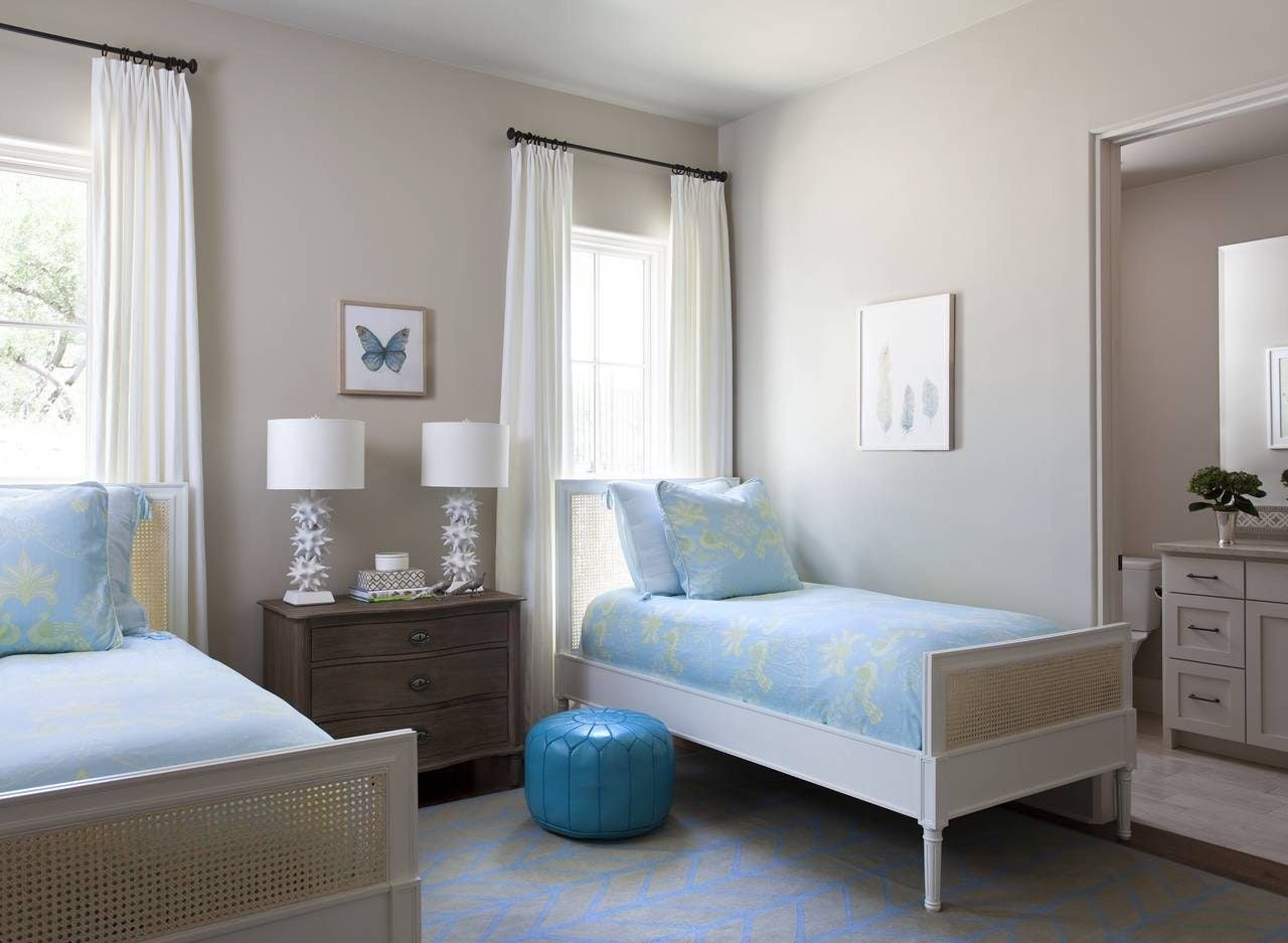 whimsical white and blue kids bedroom spanish oaks residence