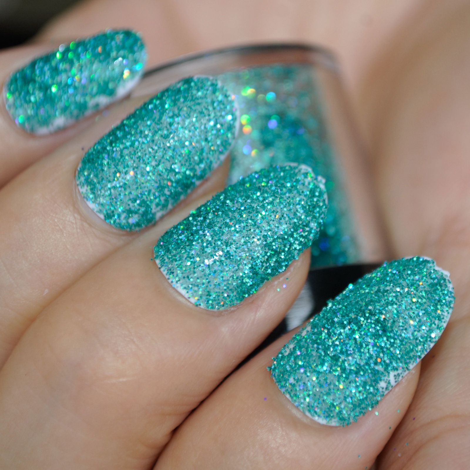 Holographic Laser Green DIY Nail Art Decorations For Women Art ...