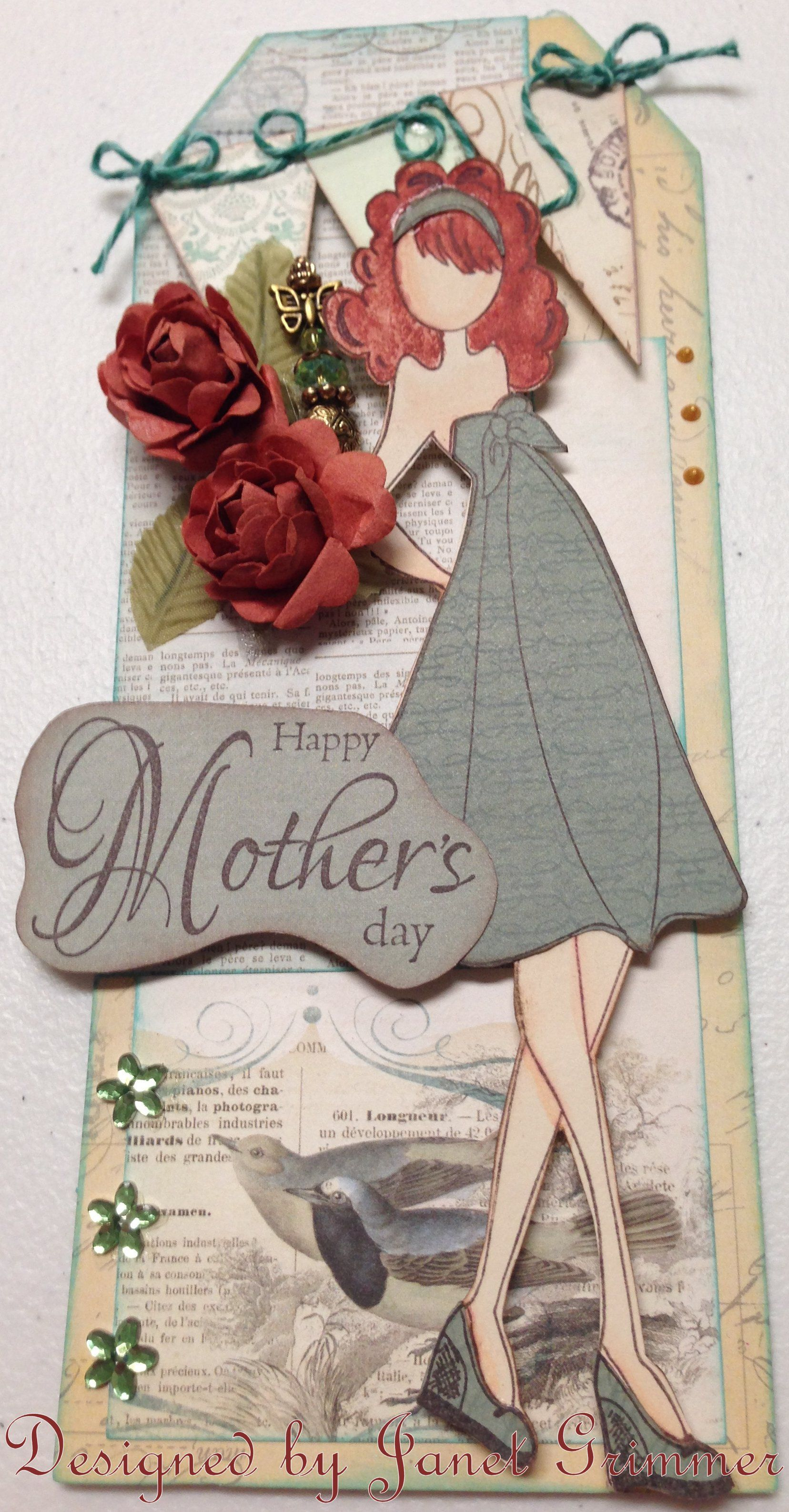 Mothers Day Prima gift tag
