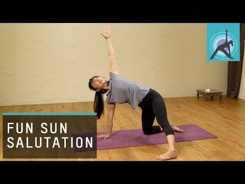 ekhart yoga a fun sun salutation yoga warm up with aki