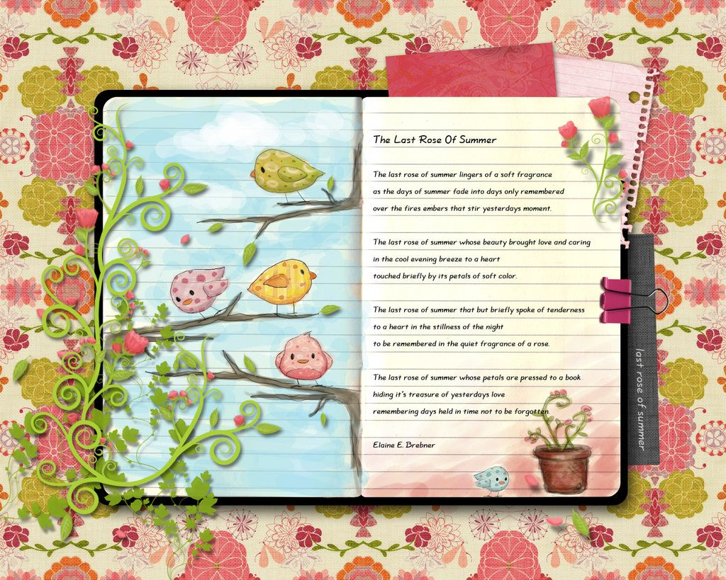 An Example Of A Scrapbook That Can Be Receated Digitally Rose