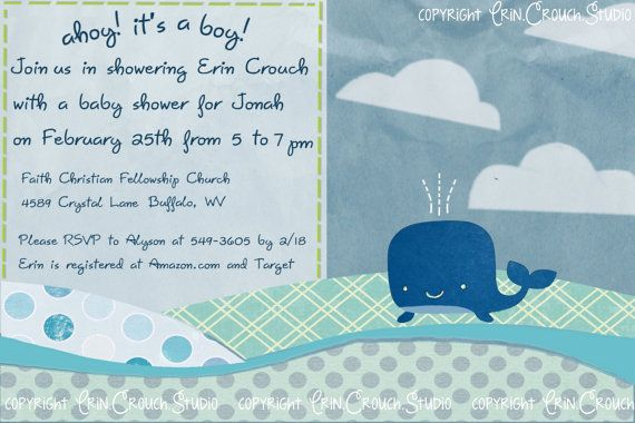 Ahoy its a boy whale themed baby shower invitation from erin ahoy its a boy whale themed baby shower invitation from erinouchudio filmwisefo