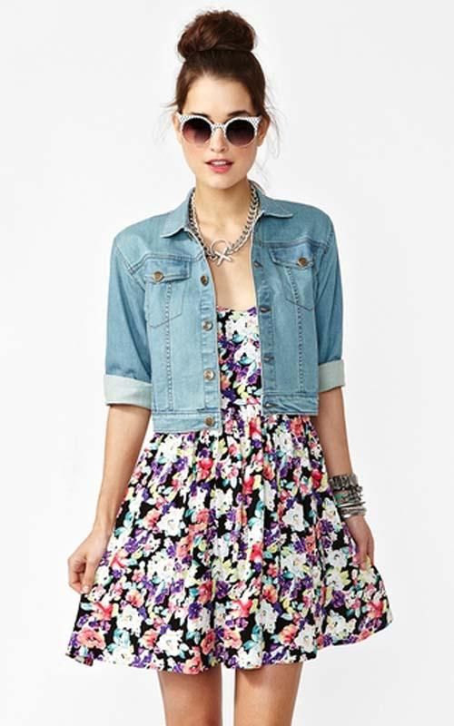 Nasty Gal Cropped Denim Jacket | www.diyfashion.com | costumes ...