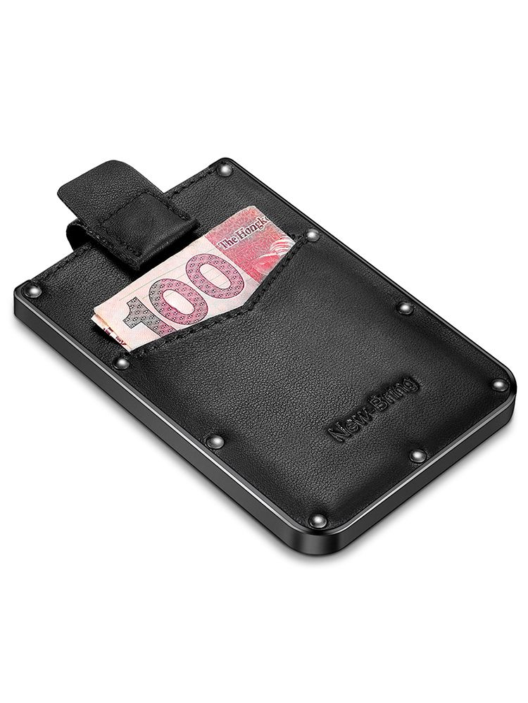 Wallet RFID Protection Black Anodized Mens Aluminum Credit Card Holder