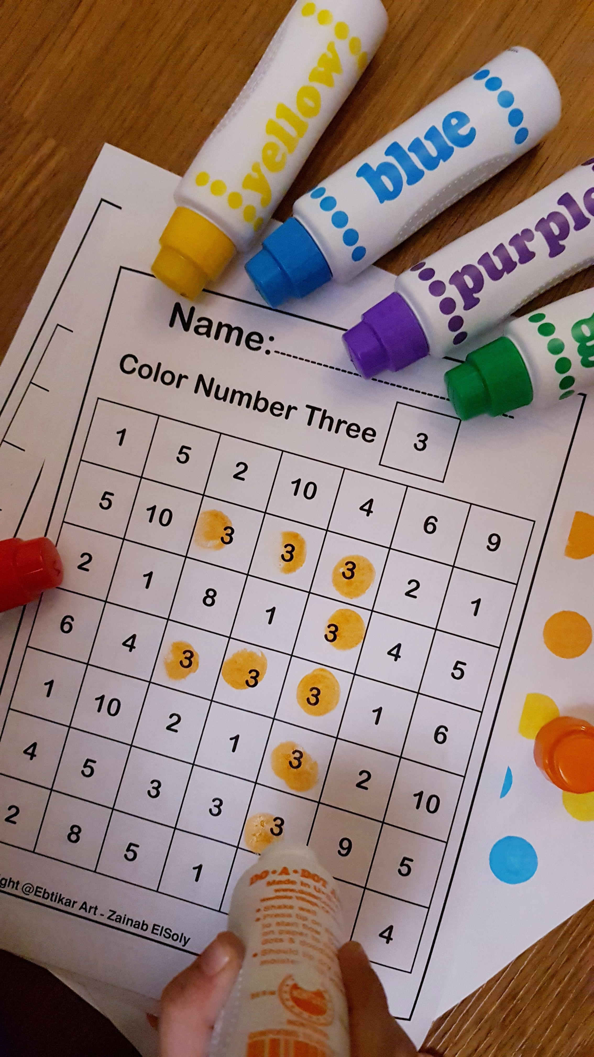 Do This Activity With Your Kid By Using Do A Dot Markers