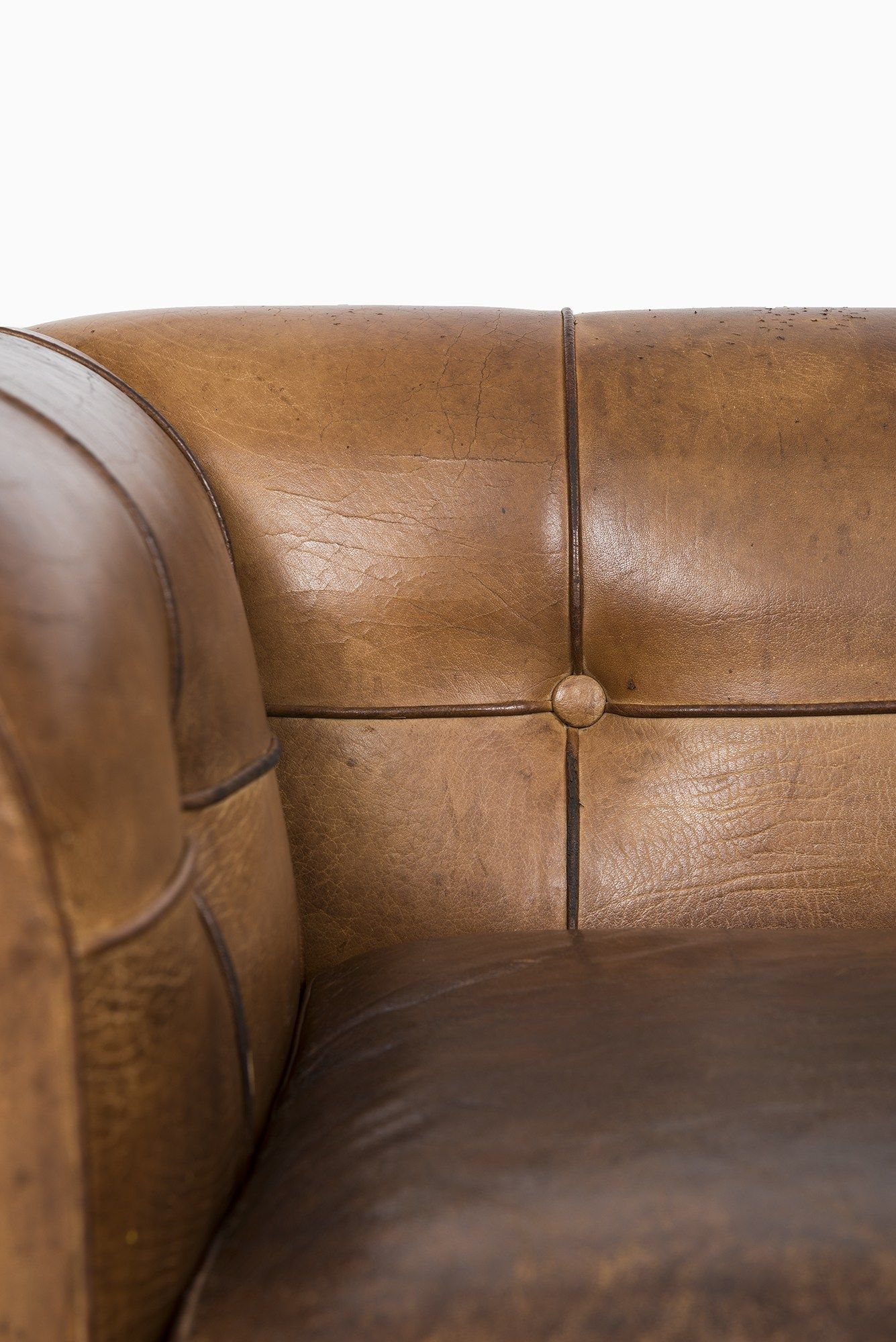 Furniture · Arne Norell Cognac Brown Buffalo Leather ...
