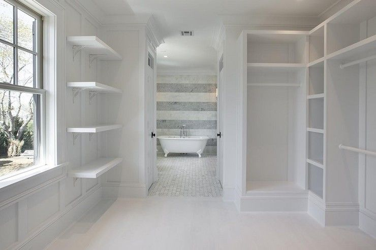 Corcoran  Master Bedroom Walk Through Closet With Custom Built Ins